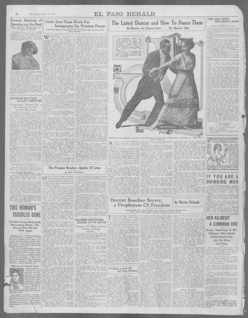 The Maurice Glide El Paso Herald, April 06, 1912, Week-End Edition, Page 24, Image 24
