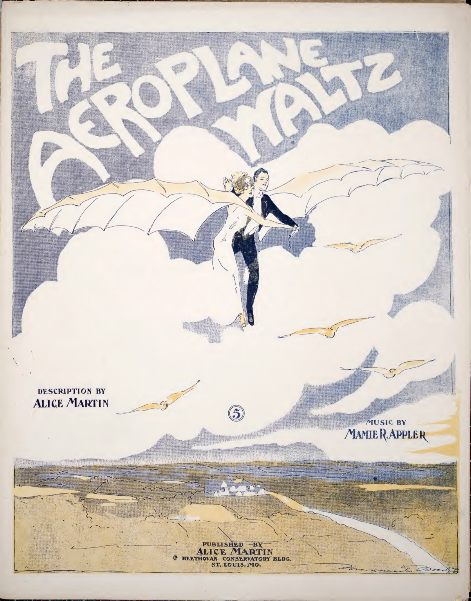 Mamie Appler's Aeroplane Waltz, with description by Alice Martin