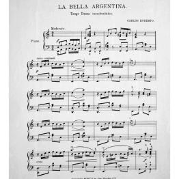 [1912, us] Carlos Roberto - La bella argentina. Tango (Lester S. Levy copy) 2