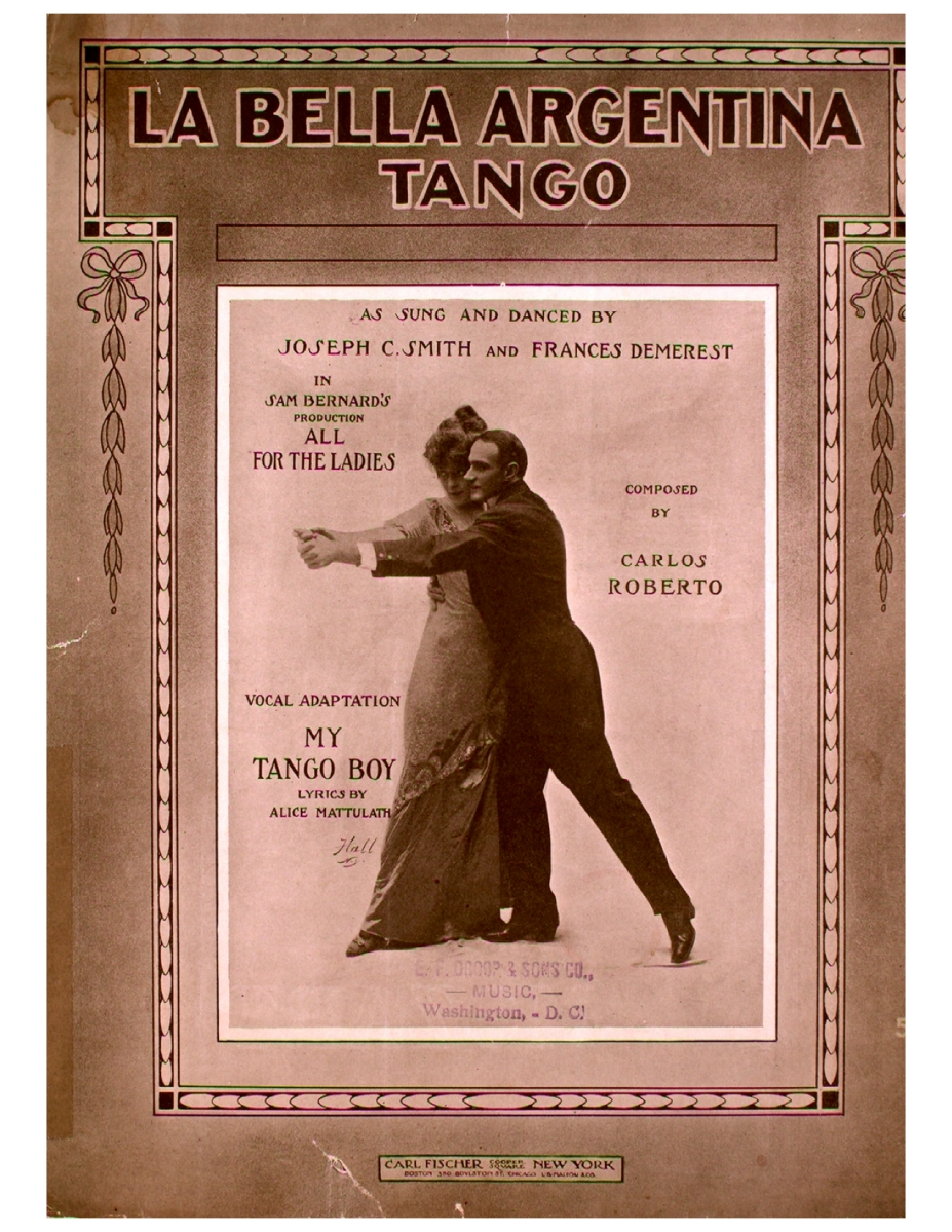 La Bella Argentina Tango, by Carlos Roberto - Sheet Music and Dance Description