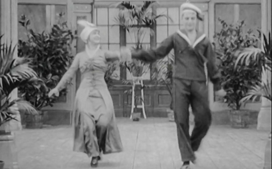 Anna and Oscar Tropp dancing one-step variations