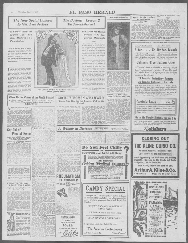 El Paso herald., December 11, 1913, Page 6, Image 6