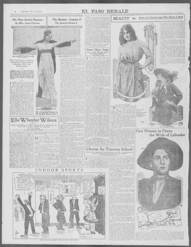El Paso herald., December 13, 1913, Week-End Edition, COMIC SECTION, Page 4, Image 20